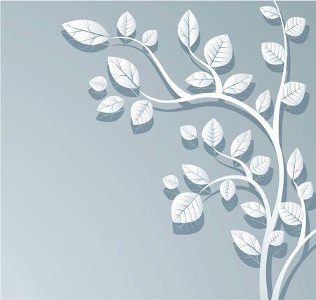 White leafs design