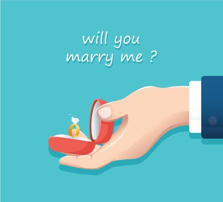 Proposal of marriage.