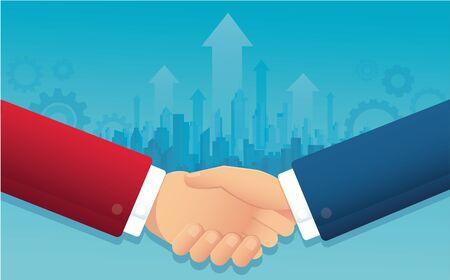 Businessmen handshake for successful