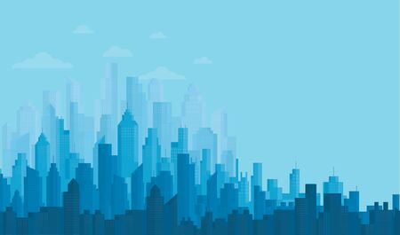 Modern City Skyline backgrounds vector illustration EPS10 Illusztráció