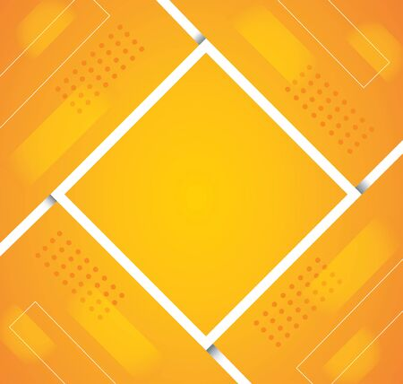 abstract orange color square background vector illustration
