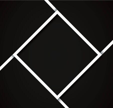 black and white frame background vector illustration Ilustrace