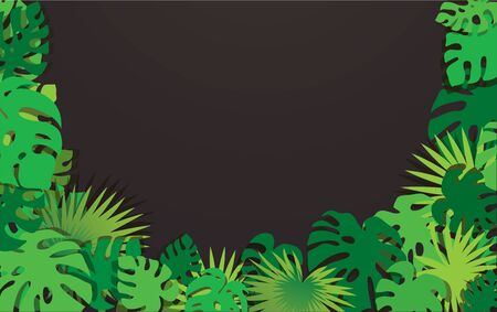 tropical leafs template background vector illustration EPS10