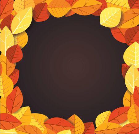 Autumn leaves background vector illustration EPS10 Ilustrace