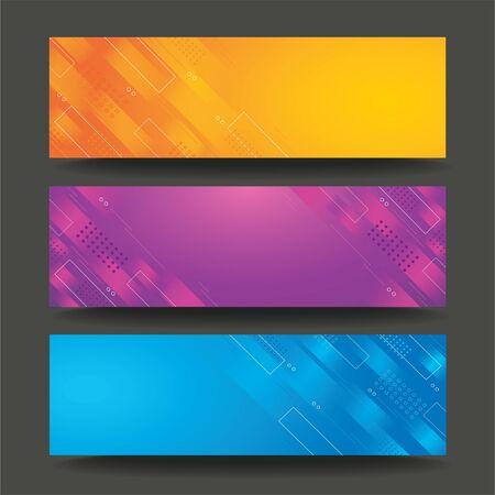 modern line template banner background vector EPS10