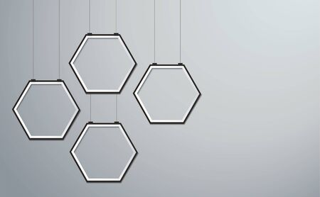 hexagon frame picture background vector Ilustrace