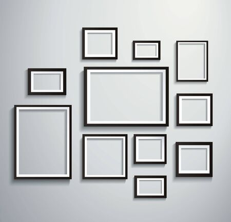 Square isolated picture frame on wall