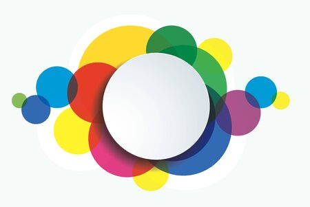 colorful circle template background vector illustration Çizim