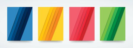 colorful lines template background vector illustration EPS10