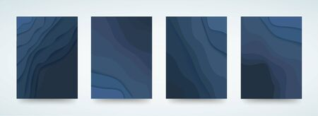 abstract blue wave template background vector illustration