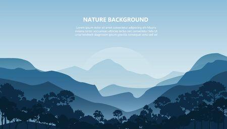 paysage de montagne arrière-plan vector illustration EPS10