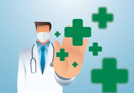 Medicine concept with doctor vector illustration EPS10 Иллюстрация