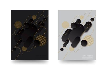 modern black and white gradient trendy template background vector illustration