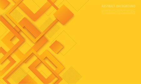 modern yellow square gradient trendy background vector illustration EPS10 Иллюстрация