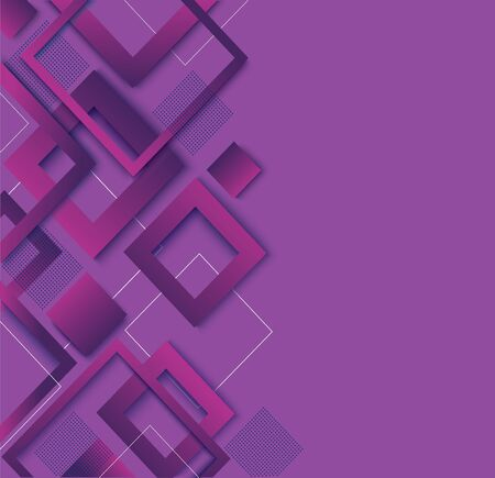 modern purple square gradient trendy background vector illustration EPS10 Иллюстрация