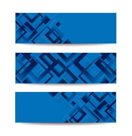 modern blue square gradient trendy template banner vector illustration