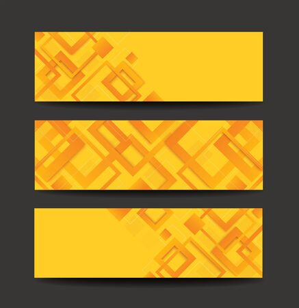 modern yellow square gradient trendy template banner vector illustration