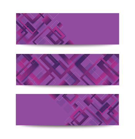 modern purple square gradient trendy template banner vector illustration