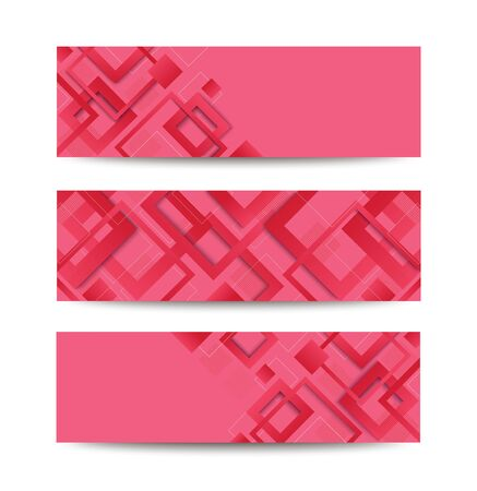 modern pink square gradient trendy template banner vector illustration EPS10