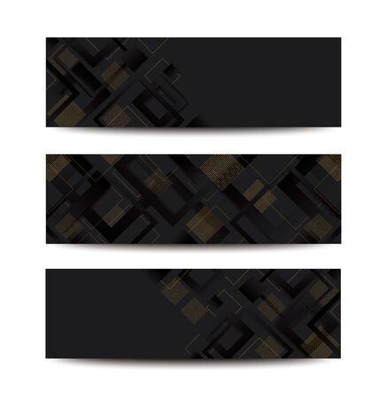 modern black square gradient trendy background vector illustration