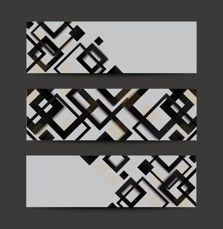 modern black and white square gradient trendy background vector illustration