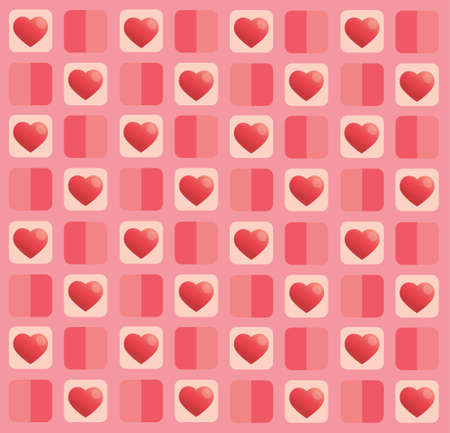 cute pastel heart pattern background vector illustration