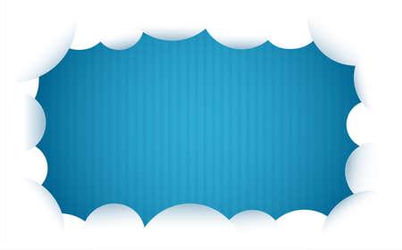 cloud and blue background vector illustration Çizim