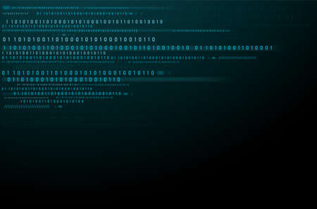 Abstract Technology Background. binary data and streaming binary code background.
