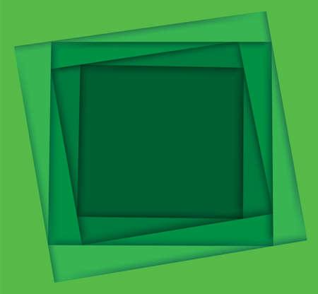 shades of green square background vector illustration EPS10 Çizim