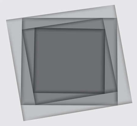 shades of white square background vector illustration