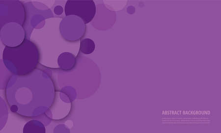 Abstract purple circle background vector illustration