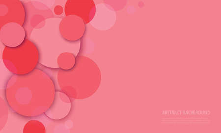 Abstract pink circle background vector illustration