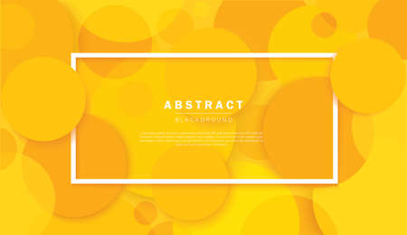 Abstract circles yellow background vector illustration
