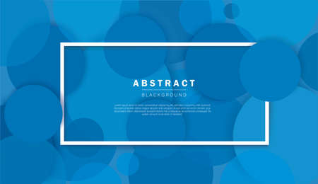 Abstract blue circle background vector illustration 矢量图像
