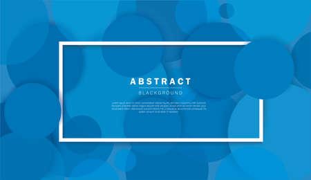 Abstract blue circle background vector illustration Illusztráció