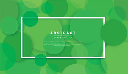 Abstract green circle background vector illustration