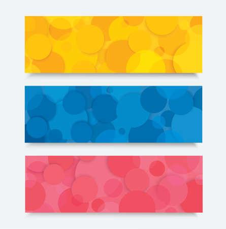 Abstract color circle banner background vector illustration