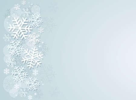 snowflake winter background vector illustration