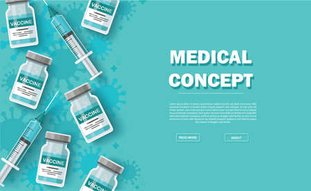 vaccine background. Vaccination concept. Health care and protection. Vector illustration