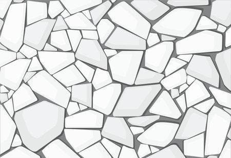 white gravel texture wallpaper. vector illustration