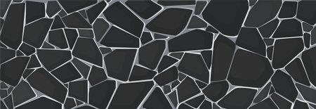 black gravel texture wallpaper. vector illustration