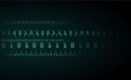 Abstract Technology Background. binary data and streaming binary code background