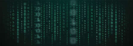 Abstract Technology Background. binary data and streaming binary code background. vector illustration 向量圖像