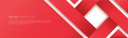 modern red line banner. vector illustration