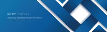 modern blue line banner. vector illustration 向量圖像