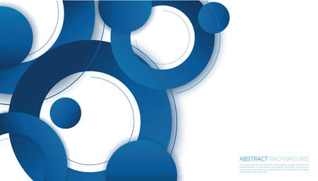Abstract blue circle background vector illustration 일러스트