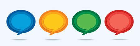 set of template speech bubble. vector illustration