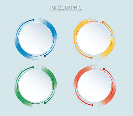 Infographics design vector with 4 options, steps or processes Иллюстрация