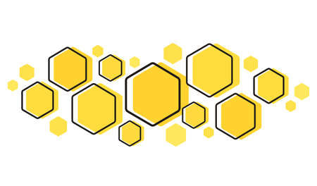 the shape of hexagon concept design background
