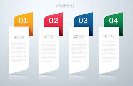 info graphic Vector template with 4 options. Can be used for web, diagram, graph, presentation, chart, report, step by step infographics.